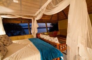 Views from the beds in each chalet